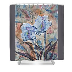 Shower Curtain featuring the painting Watercolor - Orchid Impression by Cascade Colors