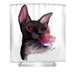 Watercolor Sphinx Shower Curtain