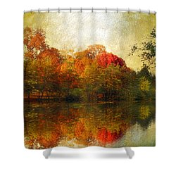 Watercolor Sunset Shower Curtain by Jessica Jenney