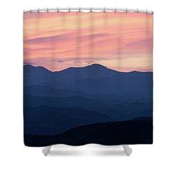 Watercolor Sunset Shower Curtain