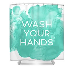 Watercolor Wash Your Hands- Art By Linda Woods Shower Curtain
