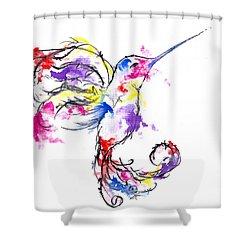 Watercolour Hummingbird Shower Curtain
