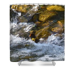 Shower Curtain featuring the photograph Watercourse by Jean Bernard Roussilhe