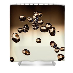 Shower Curtain featuring the photograph Waterdrops I by Rico Besserdich