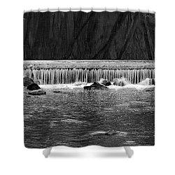 Waterfall 002  Shower Curtain by Dorin Adrian Berbier
