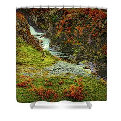 Shower Curtain featuring the photograph Waterfall 1 #g9 by Leif Sohlman