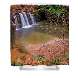 Shower Curtain featuring the photograph Waterfall-1 by Okan YILMAZ