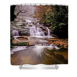 Shower Curtain featuring the photograph Waterfall-10 by Okan YILMAZ