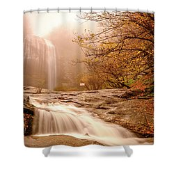 Shower Curtain featuring the photograph Waterfall-11 by Okan YILMAZ