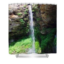 Waterfall 2 Shower Curtain by Jeff Kolker