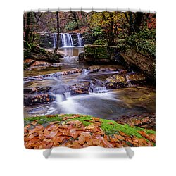 Shower Curtain featuring the photograph Waterfall-2 by Okan YILMAZ