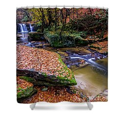 Shower Curtain featuring the photograph Waterfall-3 by Okan YILMAZ
