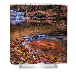 Shower Curtain featuring the photograph Waterfall-4 by Okan YILMAZ