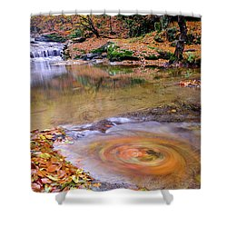 Shower Curtain featuring the photograph Waterfall-5 by Okan YILMAZ