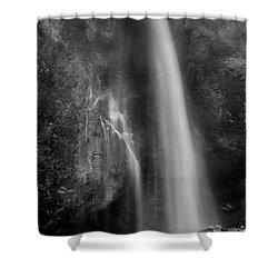 Waterfall 5830 B/w Shower Curtain by Chris McKenna