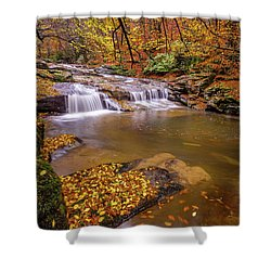 Shower Curtain featuring the photograph Waterfall-6 by Okan YILMAZ
