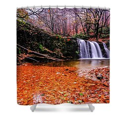 Shower Curtain featuring the photograph Waterfall-7 by Okan YILMAZ