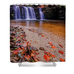 Shower Curtain featuring the photograph Waterfall-8 by Okan YILMAZ