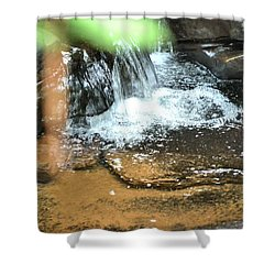 Waterfall And Pool On Soap Creek Shower Curtain