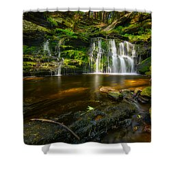 Waterfall At Day Pond State Park Shower Curtain