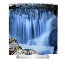 Waterfall At Dow Gardens, Midland Michigan Shower Curtain by Pat Cook