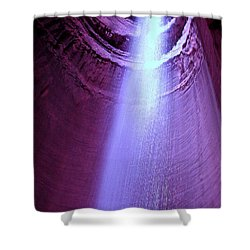 Waterfall At Ruby Falls Shower Curtain by Debra Forand