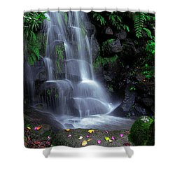 Waterfall Shower Curtain by Carlos Caetano