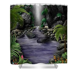 Waterfall Creek Shower Curtain