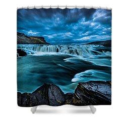 Waterfall Drama Shower Curtain by Chris McKenna