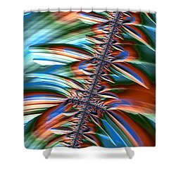 Shower Curtain featuring the digital art Waterfall Fractal 2 by Bonnie Bruno