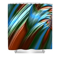Shower Curtain featuring the digital art Waterfall Fractal by Bonnie Bruno