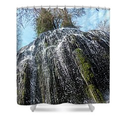 Waterfall From Below Shower Curtain
