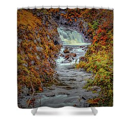 Shower Curtain featuring the photograph Waterfall #g8 by Leif Sohlman