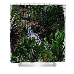 Waterfall Garden Swirl 2 Shower Curtain