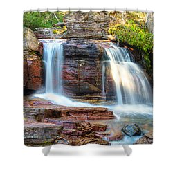 Waterfall Shower Curtain by Gary Lengyel