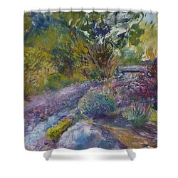 Chartreuse And Magenta Shower Curtain