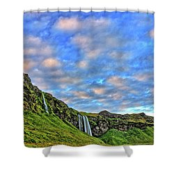 Shower Curtain featuring the photograph Waterfall Hill by Scott Mahon