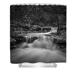 Waterfall In Austin Texas - Square Shower Curtain