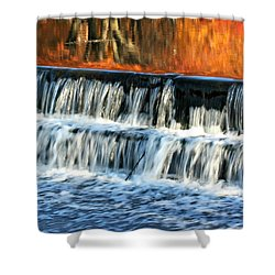 Waterfall In Downtown Waukesha Shower Curtain