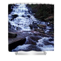 Waterfall In Georgia Shower Curtain by Angela Murray