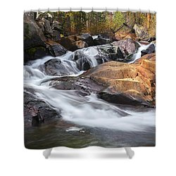 Waterfall In Lee Vining Canyon 2 Shower Curtain