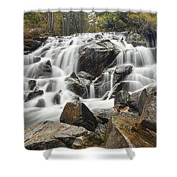 Waterfall In Lee Vining Canyon Shower Curtain