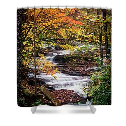 Shower Curtain featuring the photograph Waterfall Kaleidoscope  by Parker Cunningham