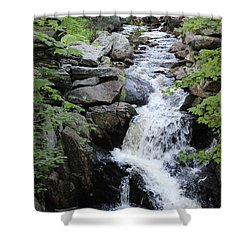 Waterfall Pillsbury State Park Shower Curtain