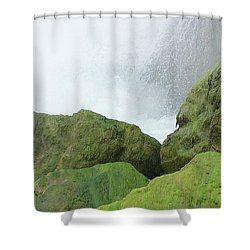 Shower Curtain featuring the photograph Waterfall by Raymond Earley