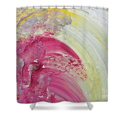 Waterfall In Pink Shower Curtain