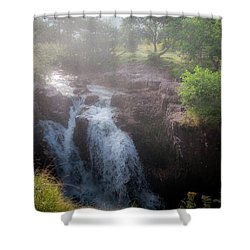 Waterfall Shower Curtain by Sergey Simanovsky
