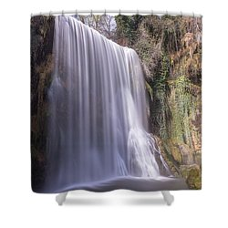 Waterfall With The Silk Effect Shower Curtain