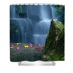 Waterfall02 Shower Curtain by Carlos Caetano