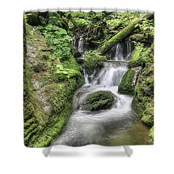 Shower Curtain featuring the photograph Waterfalls And Rapids On The White Opava Stream by Michal Boubin